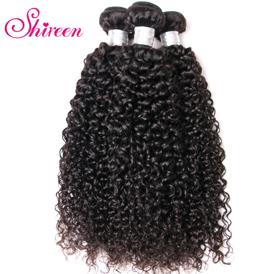 Shireen Afro Kinky Curly Hair 1/3/4 Pc Natural Color 8-28inch Brazilian Hair Weave Bundles Non Remy Human Hair Free Shipping