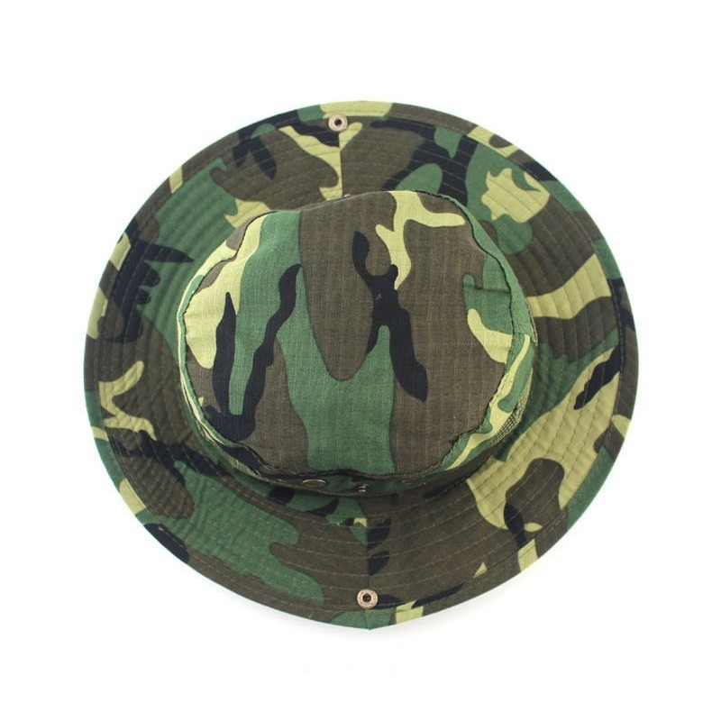 Classic US Combat Army Style Gi Boonie Bush Jungle Hat Sun Fishing Cap Men Women's Cotton Ripstop Camouflage Military Bucket Hat 5