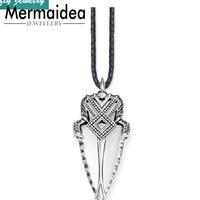 Artful African Spearhead Pendants Necklaces Vintage 925 Sterling Silver Rebel Rope Fashion Jewelry Gift Men Women Jewellery