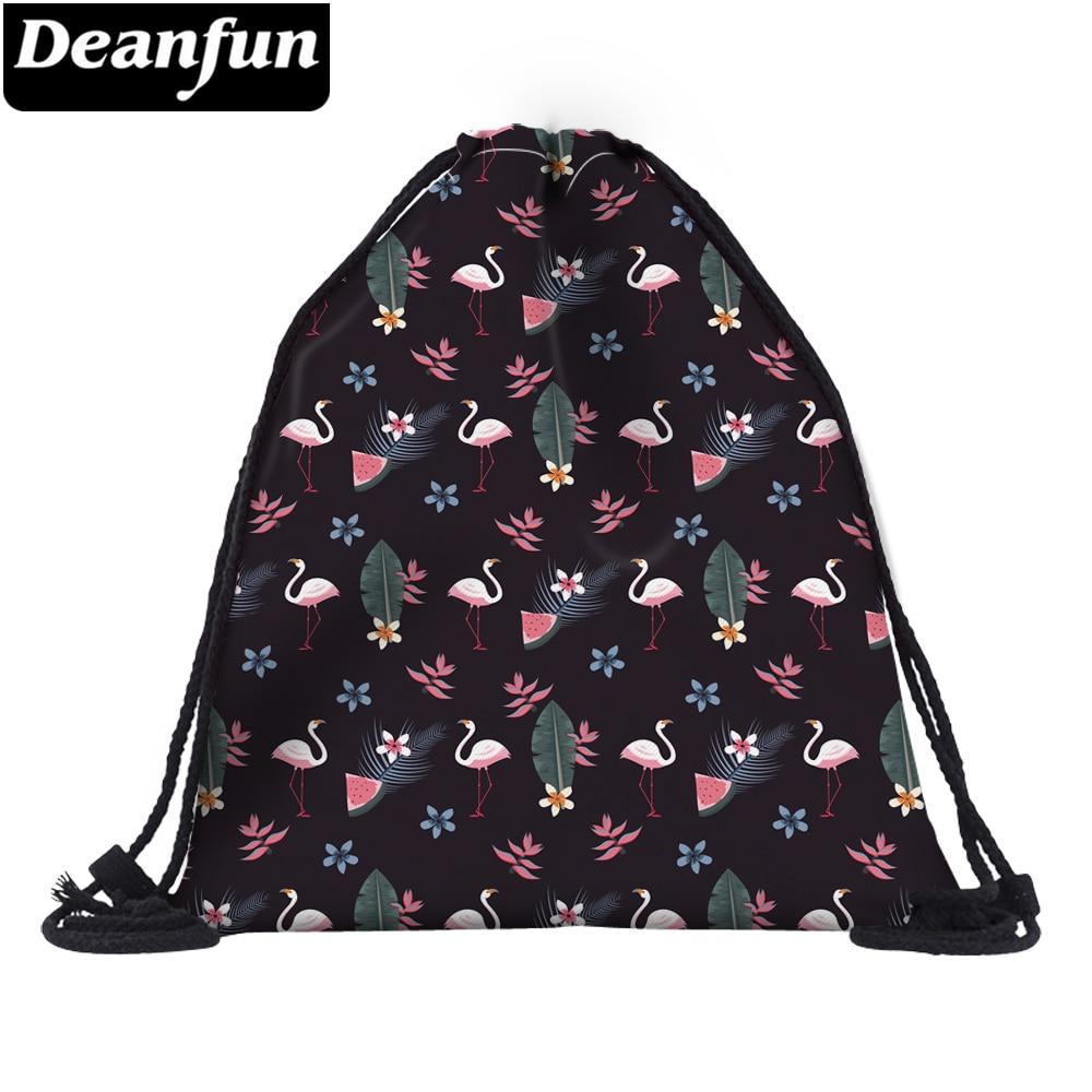 Deanfun Small Flamingo Drawstring Bag 3D Printing Fashion For Women Travelling Organizer 60148 #