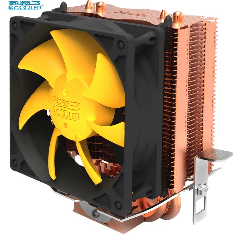 PCcooler S83 cpu cooler Copper plating fins 2 heatpipes 80mm/8cm silent fan CPU cooling radiator fan for AMD Intel 775 1155 1156 computer cooler radiator with heatsink heatpipe cooling fan for hd6970 hd6950 grahics card vga cooler