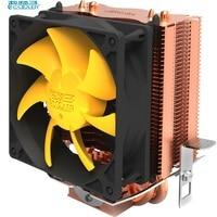 PCcooler Cpu Cooler Copper Plating Fins 2 Heatpipes 80mm 8cm Silent Fan CPU Cooling Radiator Fan