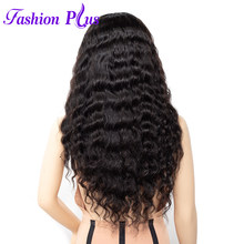 Full Lace Human Hair Wigs For Women Long Lace Wig Natural Color Loose wave 100% Brazilian Remy Human Hair Wigs With Baby Hair(China)