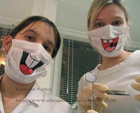 New Funny Dentist Front Tooth Respirator Mask Dust Mask Smiling Face
