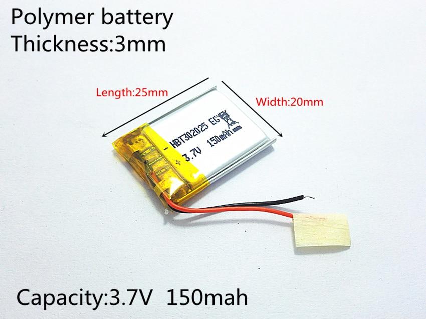 3.7V,150mAH,[302025] PLIB;polymer lithium ion / Li-ion battery for smart watch,BLUE TOOTH,GPS,mp3,mp4,toy,speaker3.7V,150mAH,[302025] PLIB;polymer lithium ion / Li-ion battery for smart watch,BLUE TOOTH,GPS,mp3,mp4,toy,speaker