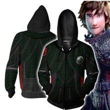купить 2019 3D Printed Hoodie How to Train Your Dragon Hooded Clothes Tracksuit Zipper Jacket Sweatshirt Hip Hop Streatwear Coat S-5XL дешево