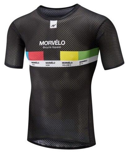 Underwear Team-Morvelo Short-Sleeve Base-Layer Road-Bike Cycle Riding Summer Mesh Capa