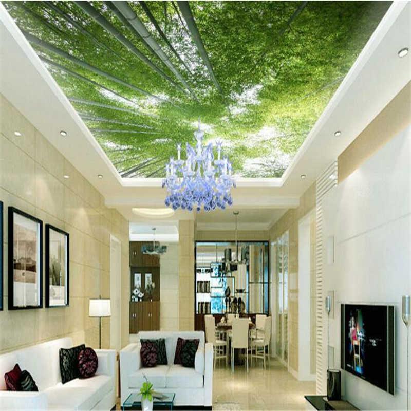 Beibehang Large Custom Wallpaper Green Bamboo Forest Natural Fresh Landscape Painting Living Room Ceiling Roof Murals Room Ceiling Custom Wallpaperwallpaper Green Aliexpress