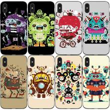 Doodle Cute Kaiju  Phone Cases Cover for iphone X XR XS MAX 6 6s 7 8 Plus TPU Cover Coque For iphone 7 8Plus iphone 5SE Cases цены