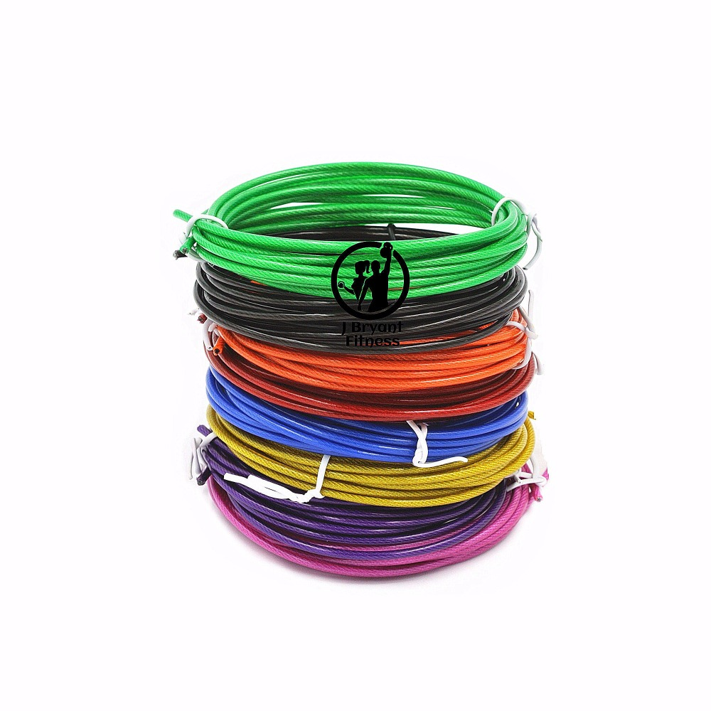 Spare Rope 3 m Crossfit Replaceable Wire Cable Speed Jump Ropes Skipping Rope Color Red Blue and Black steel wire(China)