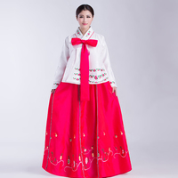 Disfraces Hmong Clothes Chinese Folk Dance National Costume Stage Loaded Minority Costumes Hanbok Korean Traditional Dress Long