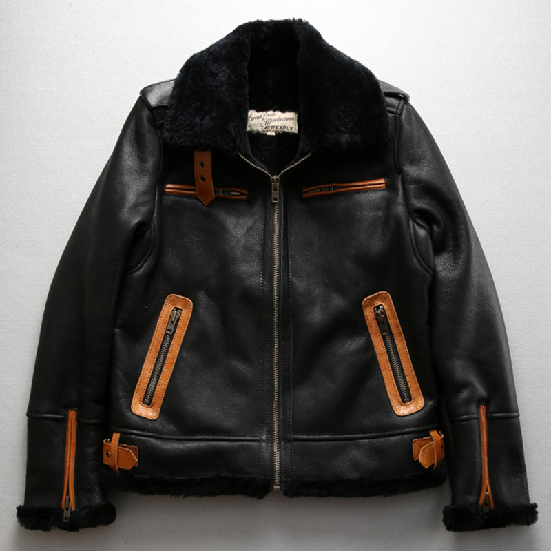 Aliexpress.com : Buy Axirex fly B3 flight jacket real fur coat men ...