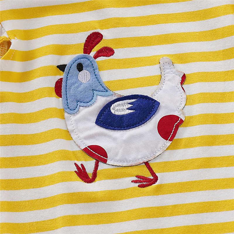 2019 קיץ התאמה ילד תינוקת ילד גדול קטן אחות אח פס Romper שמלת חולצה חוות סגנון