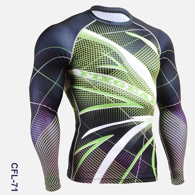 Vêtements de cyclisme hommes 2016 impression complète Gym activité de plein air collants à manches longues chemises de vélo pour hommes course entraînement chemises de sport - 3