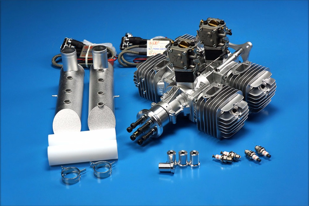 Original DLE222 Four Cylinder DLE 222CC Gasoline / Petrol Engine for RC Airplane dla116 inline cnc processed inline gasoline engine petrol engine 116cc for gas airplanes with double cylinders