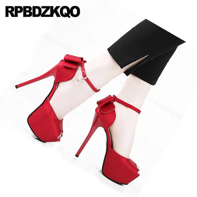 665cccfd58c ... Pumps Stiletto Cute Embellished Bow Shoes Bowtie Women Wedge Platform  Sandals Bridal Peep Toe Kawaii Ankle