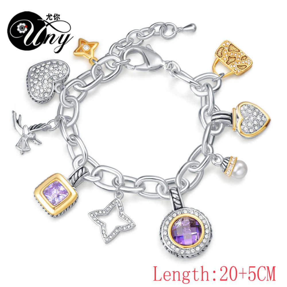 UNY biżuteria bransoletka projektant marki David inspirowana bransoletka kobiety antyczne bransoletki kablowe walentynki prezent na boże narodzenie bransoletki