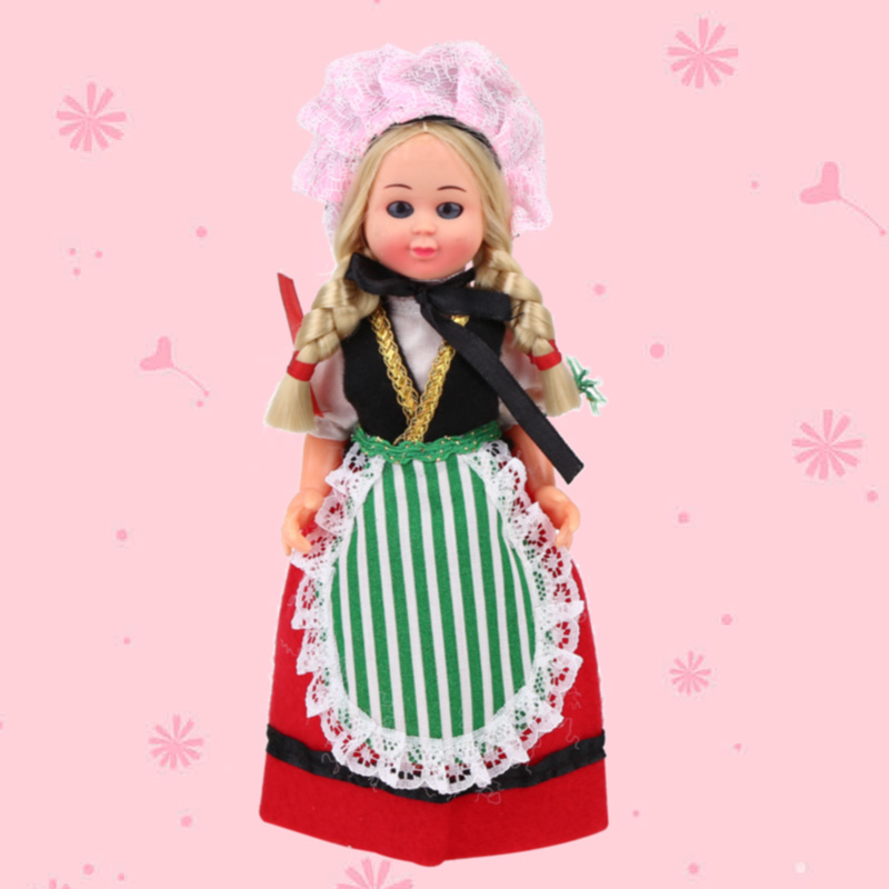 7.5inch Baby Ethnic Dolls Netherlands Girls Clothes Mini Girls Dolls Children's New Beautiful Dolls Best Gift For Kids 1003-021