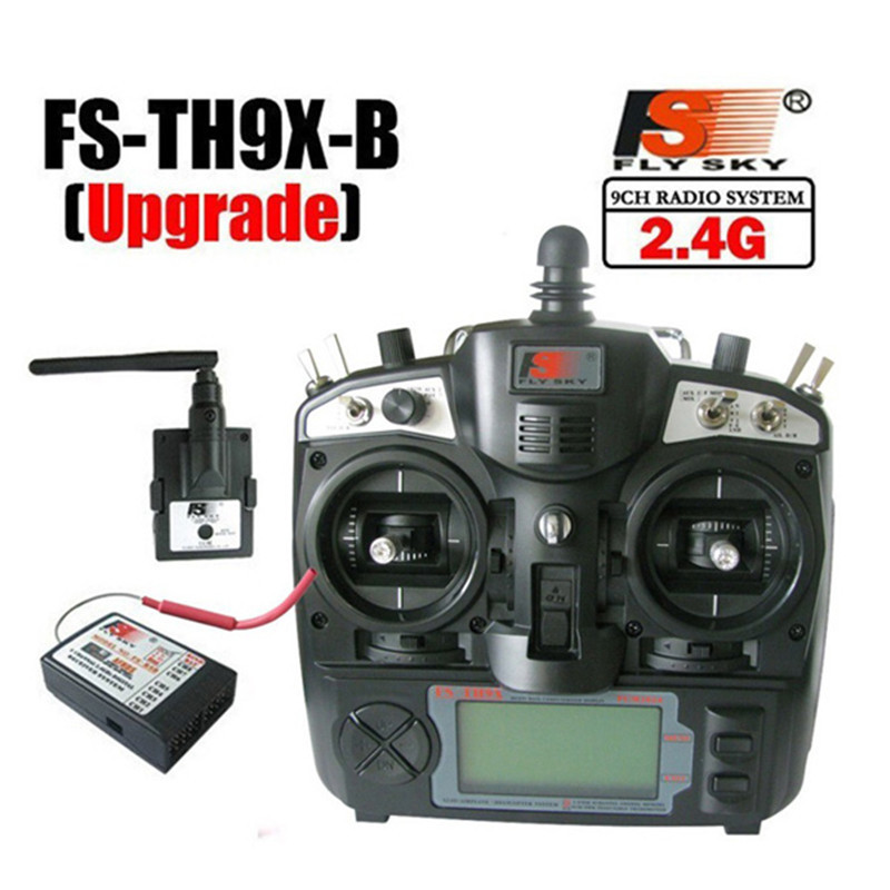 Upgraded FlySky FS-TH9X 2.4G 9CH Transmitter With FS-R9B RM002 Receiver Set Mode 2 For Quadcopter Glider Helicopter Airplane Car flysky fs th9xb transmitter fs r9b receiver combo