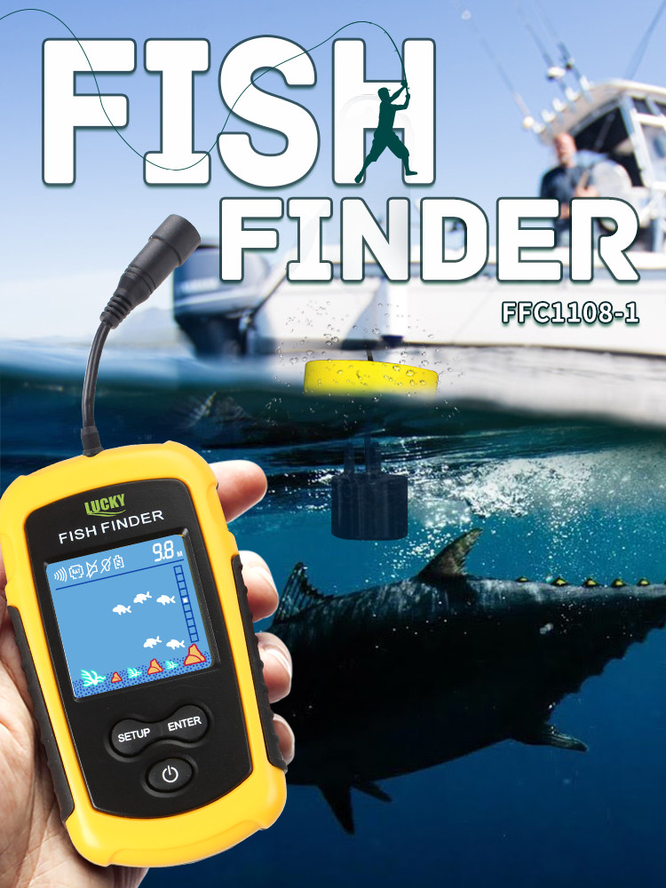 Portable Sonar Alarm Fish-Finders Warehouse Russian Lake FFC1108-1 100M
