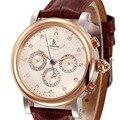 Яркие автоматические механические часы IK coloring  мужские водонепроницаемые Модные наручные часы с ремешком из натуральной кожи