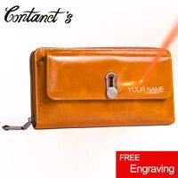 New Fashion Genuine Leather Wallet Women Zipper Money Bag Long Clutch Women's Purse Coin Card Holders Wallets Large Capacity