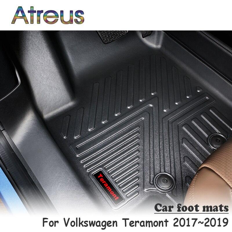 Atreus NEW 1Set TPE Car Floor Foot Mat For Volkswagen Teramont 2017 2018 2019 Waterproof Carpet