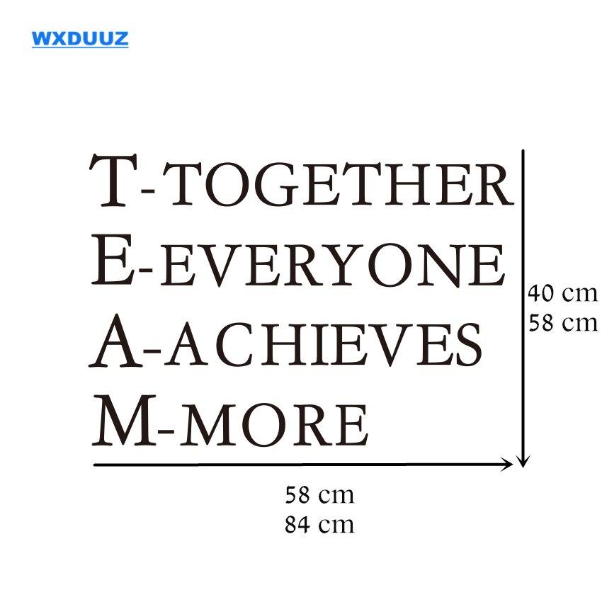 R 25 8 Trabalho Em Equipe Wxduuz Palavras Inspiradoras Cartaz Motivacional Cita Adesivo De Parede Para Decoração Do Escritório Adesivo De Parede