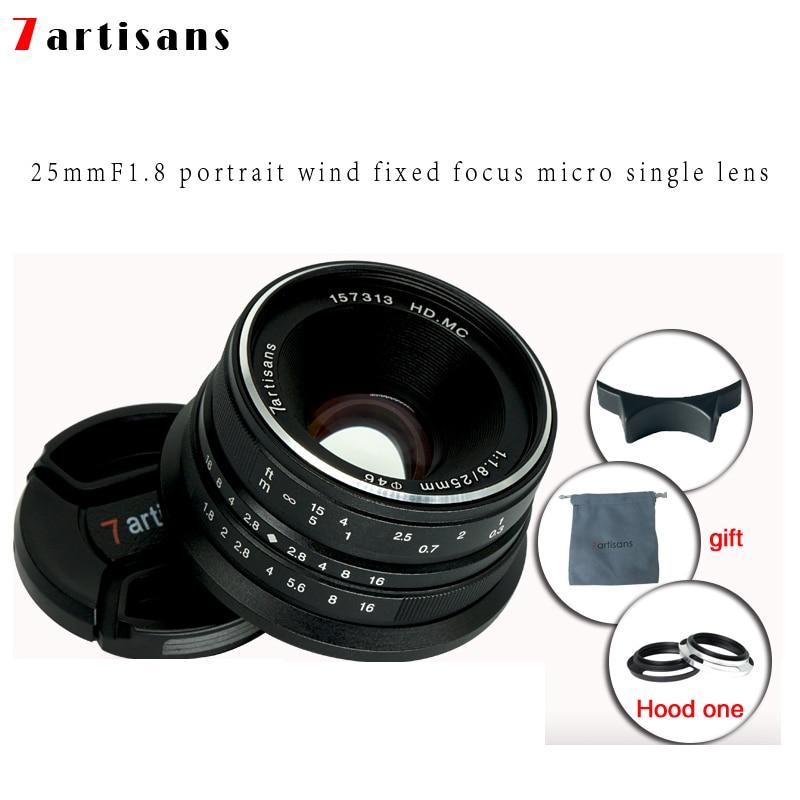 7 artigiani 25mm f1.8 Prime Lens per Tutti I Singoli Serie per E Montare Canon EOS-M Mout Micro 4/3 Telecamere a7 A7II A7R Trasporto Libero