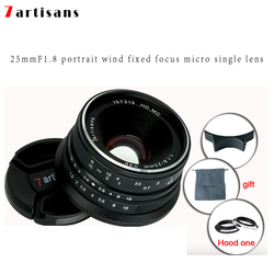 7artisans 25mm f1.8 Prime Lens to All Single Series for E Mount Canon EOS-M Mout  Micro 4/3 Cameras A7 A7II A7R   Free Shipping