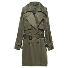 Bohoartist Women Trench Coat Plus Size Casual Elegant Autumn 2019 Long Coats Black Thin Lapel Belt Female Brand Vintage Overcoat