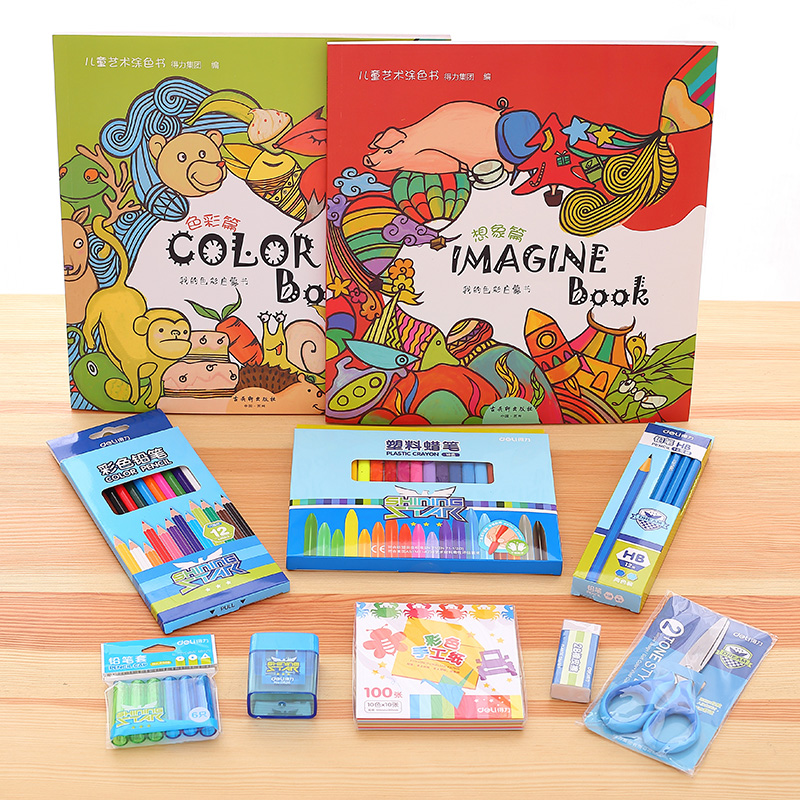 цена на 1 Pack Art Sets Wax Caryon Gift For Kids Children's Intellectual Painting Supplies Boy And Girl Deli 68878