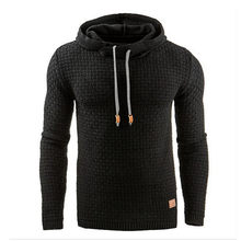Fall/winter 2019 Men's jacquard hoodie Casual Hip-hop jogging long-Sleeved Hoodie warm color pullover hoodie coat(China)