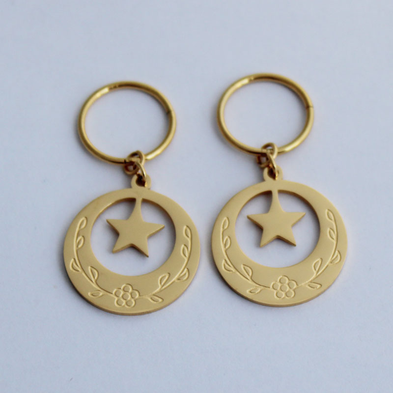 Island Style Stainless Steel Kiribati Earrings For Girls Star Moon Heart Earring Jewelry Gifts