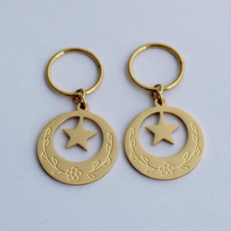 Island Style Stainless Steel Kiribati Earrings for Girls Star Moon Heart Earring Jewelry Gifts