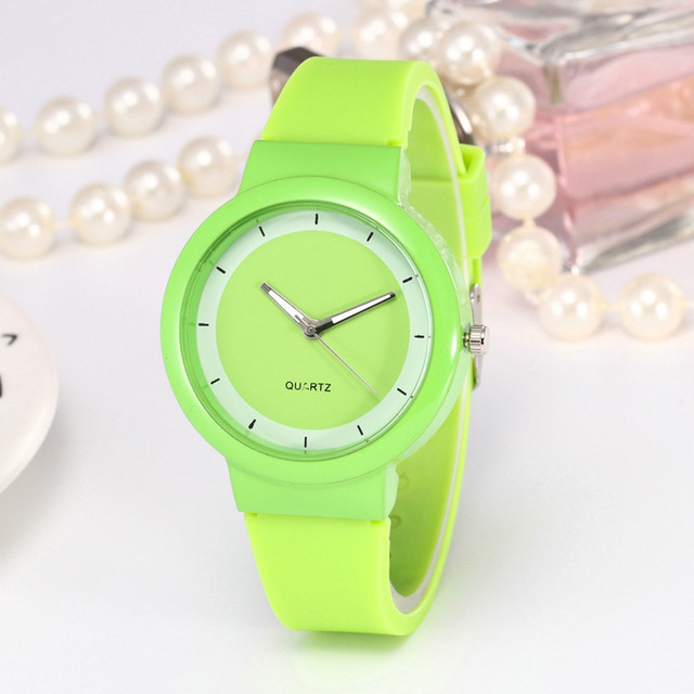 Duobla NEW 2019 Women Watches Silicone Jelly Gel Quartz Analog Hour Wrist Watch Ladies Clock Gift Relogio feminino zegarek 30Q