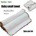 5 unids mucho pequeña toalla de la fibra de bambú Del paño Del Bebé lavable y reutilizable toallitas de bebé super suave de bambú cuadrados