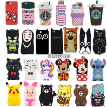 For iPhone 6 7 8 8Plus X XS XR Max New 3D Cute Cartoon Animal Soft Silicone Case Phone Back Cover Shell Skins Shockproof