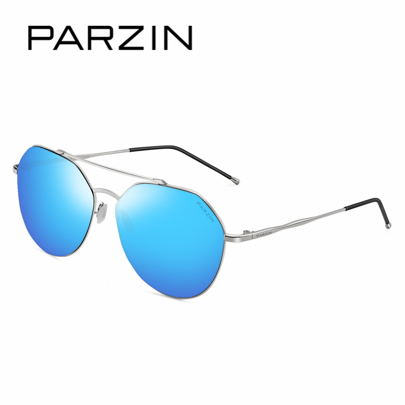 PARZIN Brand Unisex Designer Cutting Geometry Lens Aviator Sunglasses Quality Multi Layer