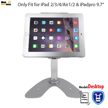 tablet pc stand Anti-Theft Security Kiosk Stand for iPad 2 3 4 Air Pro 9.7 Rotation Base Desktop POS Enclosure Holder with Lock aluminum tablet pc stand holder for ipad pro ipad new 2018 air 2 mini 4 surface pro 4 3 docking station cradle anti skid silver