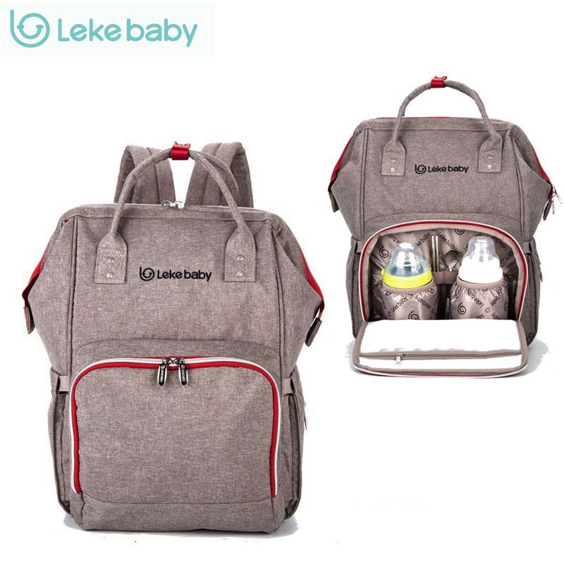 Lekebaby Baby Bag Nappy Bags Large Diaper Bag mom Backpack Baby Organizer Maternity Bags For Mother Handbag Baby Nappy Backpack on AliExpress