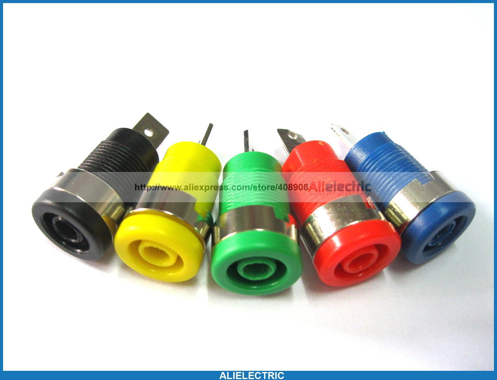 100 Pcs Binding Post Banana Jack for 4mm Safety Protection Plug 5 Colors SL2075