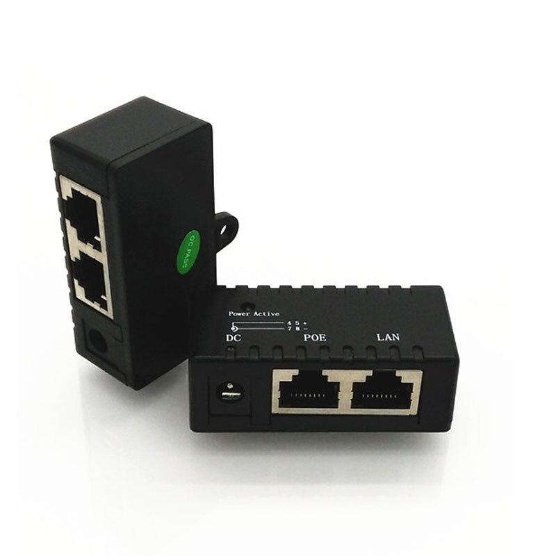 2PCS/LOT PoE Splitter PoE Injector RJ45 DC input Passive PoE ...