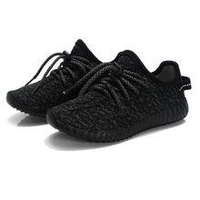 2016 Enfants de Air Mesh Respirant chaussures Enfants Sport chaussures de Course Bébé bande Élastique Noir rose gris sneakers taille 26-35