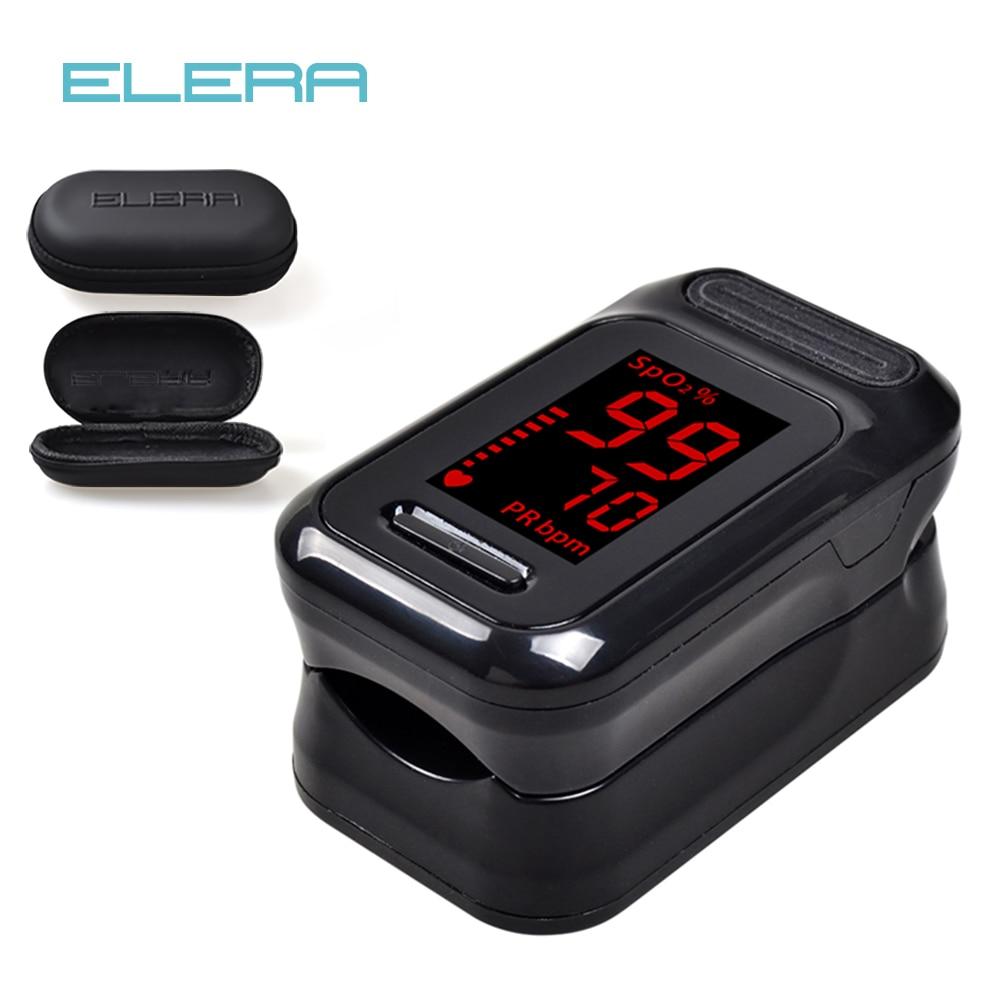 ELERA Finger Pulse Oximeter Oximetro de dedo Portable Blood Oxygen Saturometro SPO2 PR Pulsioximetro Pulsoximeter Oxymeter(China)