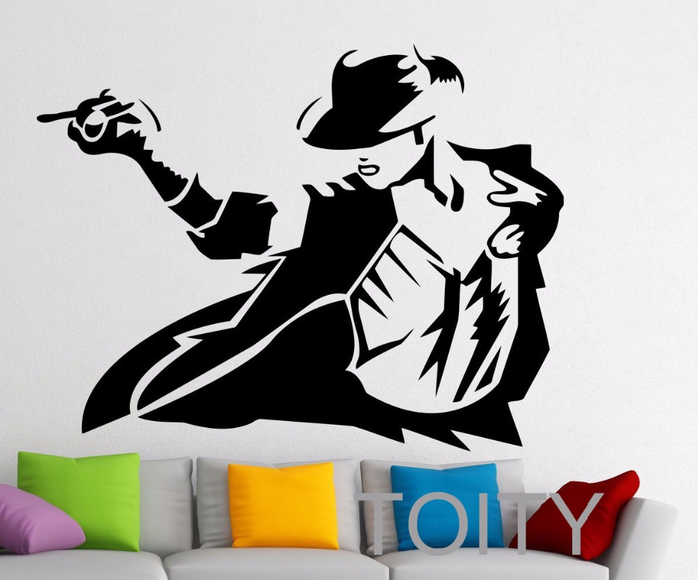 Michael Jackson Sticker Pop Music Singer Wall Vinyl Decal