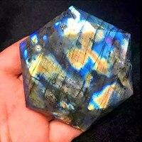 2017 new 1pcs natural quartz crystal Labradorite pendant dots to heal natural stones and mineral Christmas gifts