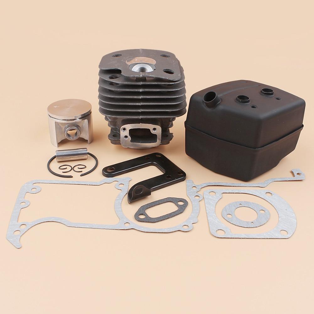 50MM BIG BORE NIKASIL Cylinder Piston Muffler Gaskets Kit Fit HUSQVARNA 61 268 272 268K Chainsaw Spare Parts 503476901