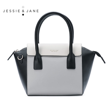 JESSIE&JANE Designer Brand New Style Women Leather Bag Fashion Trapeze Bags Top-Handle Bag Satchel Shoulder Bags 1081