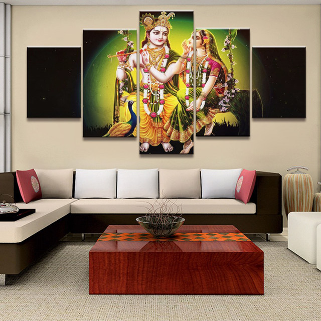 Online Shop Framed Wall Art Painting HD Printed 5 Panel God Of ...